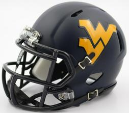 West Virginia Mountaineers Riddell Speed Mini Replica Satin