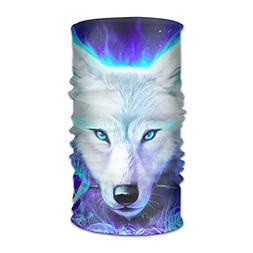 White Ice Wolf Magic Headband Elastic Seamless Face Mask Ban