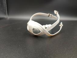 White unbranded mini helmet chinstrap