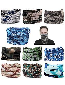 10 pcs you Seamless Headband Versatile 12-in-1 Stretchable H